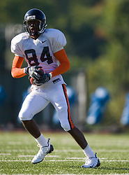 Virginia wide receiver Jared Green (84).  The Virginia Cavaliers football team during an open practice on August 9, 2008 at the University of Virginia's football turf field in Charlottesville, VA.