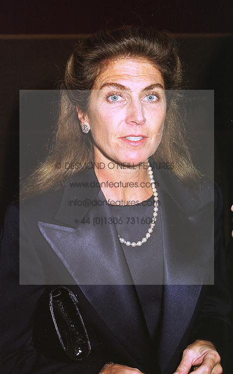 PRINCESS NICHOLAS VON PREUSSEN at a dinner in London on 22nd September 1998.MKE 43