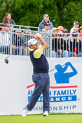 June 22, 2018 - Madison, WI, U.S. - MADISON, WI - JUNE 22: David Frost tees off on the first tee during the American Family Insurance Championship Champions Tour golf tournament on June 22, 2018 at University Ridge Golf Course in Madison, WI. (Photo by Lawrence Iles/Icon Sportswire) (Credit Image: © Lawrence Iles/Icon SMI via ZUMA Press)