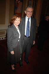 LORD & LADY FOWLER at a party to celebrate the publication of Sandra Howard's book 'Ursula's Stor' held at The British Academy, 10 Carlton House Terace, London on 4th September 2007.<br /><br />NON EXCLUSIVE - WORLD RIGHTS