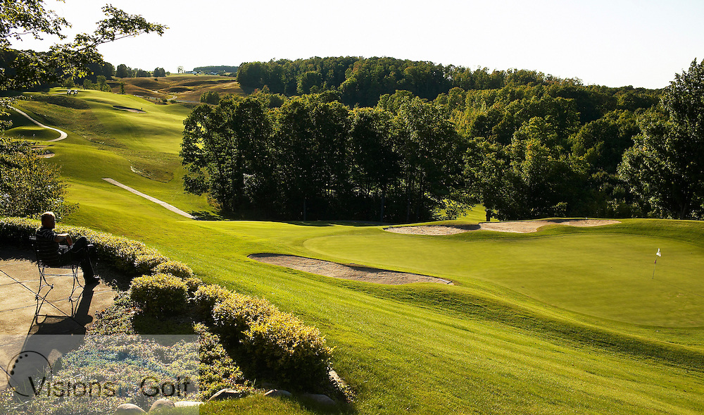 040910 Treetops resort Gaylord Michigan USA / Photo Christer Hˆglund / The 11th green at the Masterpiece designed by Robert Trent Jones, Sr opened in 1987, Photo Visions In Golf/Christer Hoglund
