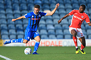 Bradden Inman shoots during the EFL Sky Bet League 1 match between Rochdale and Charlton Athletic at Spotland, Rochdale, England on 27 October 2018.