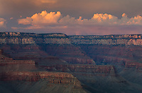 Evening storm over the North Rim of Grand Canyon seen from Cedar Ridge, Grand Canyon National Park