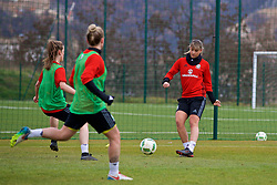 ZENICA, BOSNIA AND HERZEGOVINA - Monday, November 27, 2017: Wales' Gemma Evans during a training session ahead of the FIFA Women's World Cup 2019 Qualifying Round Group 1 match against Bosnia and Herzegovina at the FF BH Football Training Centre. (Pic by David Rawcliffe/Propaganda)