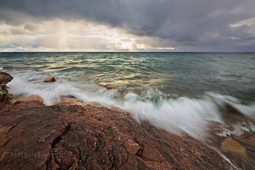 Autumn skies at the Upper Harbor, Marquette, Mi, Lake Superior