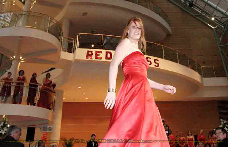 Sabrina Baum walks the runway during the Red Dress Extravaganza at the 2007 Wellness Connection Red Dress Gala, at the Schuster Performing Arts Center in Dayton, Saturday night, May 5th.