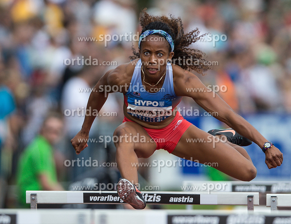 28.05.2016, Moeslestadion, Goetzis, AUT, 42. Hypo Meeting Goetzis 2016, Siebenkampf der Frauen, 100 Meter Huerden, im Bild Barbara Nwaba (USA) // Barbara Nwaba of United States in action during the 100 metres hurdles event of the Heptathlon competition at the 42th Hypo Meeting at the Moeslestadion in Goetzis, Austria on 2016/05/28. EXPA Pictures © 2016, PhotoCredit: EXPA/ Peter Rinderer