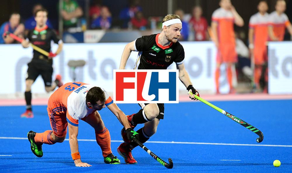 Odisha Men's Hockey World League Final Bhubaneswar 2017<br /> Match id:16<br /> Germany v Netherlands<br /> Foto: Christopher Ruehr (Ger) Sander Baart (Ned) <br /> COPYRIGHT WORLDSPORTPICS FRANK UIJLENBROEK
