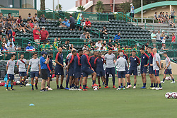 October 8, 2018 - Tampa, FL, USA - Tampa, FL - Monday October 8, 2018: The USMNT train in preparation for their match versus Colombia. (Credit Image: © John Dorton/ISIPhotos via ZUMA Wire)