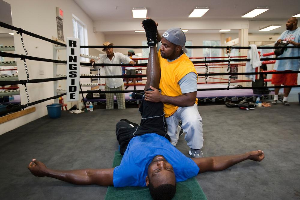 "WBC Heavyweight champion Hasim ""The Rock"" Rahman. Photographed for Sports Illustrated."