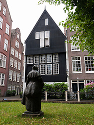 Het Houten Huis, the oldest house in Amsterdam at the Begijnhof in Amsterdam, The Netherlands