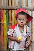 Young boy at a market near Kalaw.