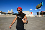 Rick outside the tunnel he calls home underneath the Mandalay Bays Casino.<br /> <br /> Sin City is the ultimate amusement park for adults. For some unlucky few, Vegas is anything but fun. They live in the storm drains right underneath The Strip.