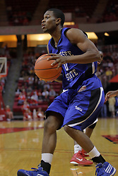 17 November 2010: Jacquan Nobles during an NCAA basketball game between the Tennessee State Tigers and the Illinois State Redbirds at Redbird Arena in Normal Illinois.