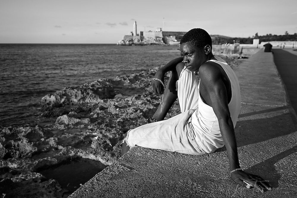 The Malecón, the 8km long boulevard in Havana, is a popular evening spot for young and old to hang out.