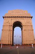 india gate in the evening sky, delhi, india