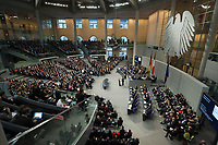 22 JAN 2013, BERLIN/GERMANY:<br /> Uebersicht waehrend der Rede von Francois Hollande, Staatspraesident Frankreich, gemeinsame Sitzung der Assemblee nationale und des Bundestages sowie der Regierungen, des Staatspraesidenten und des Bundespraesidenten anl. des 50. Jahrestages der Unterzeichnung des Elysee-Vertrages, Plenum, Deustcher Bundestag<br /> IMAGE: 20130122-01-022<br /> KEYWORDS: Assembl&eacute;e nationale, Elysee-Vertrag, Elys&eacute;e-Vertrag, Fran&ccedil;ois Hollande