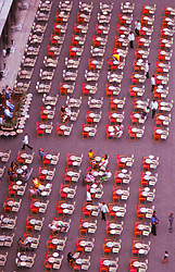 Aerial View Of Restaurants Tables St. Marks Square, Venice Italy