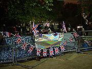 CAMPING  FOR THE WEDDING. LONDON.  on April 28-DO NOT ARCHIVE-© Copyright Photograph by Dafydd Jones. 248 Clapham Rd. London SW9 0PZ. Tel 0207 820 0771. www.dafjones.com.