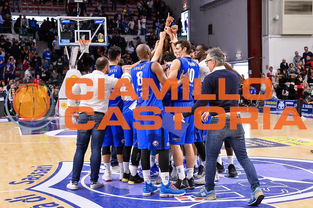 Team Germani Basket Leonessa Brescia<br /> Banco di Sardegna Dinamo Sassari - Germani Basket Leonessa Brescia<br /> Legabasket Serie A LBA PosteMobile 2017/2018<br /> Sassari, 08/04/2018<br /> Foto L.Canu / Ciamillo-Castoria