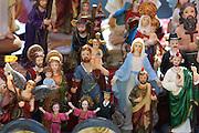Religious souvenir statuettes.