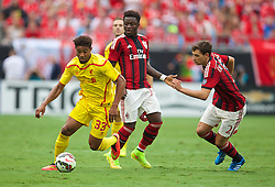 CHARLOTTE, USA - Saturday, August 2, 2014: Liverpool's Jordon Ibe in action against AC Milan during the International Champions Cup Group B match at the Bank of America Stadium on day thirteen of the club's USA Tour. (Pic by David Rawcliffe/Propaganda)