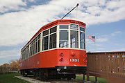 St. Louis Missouri MO USA, The Loop Trolley. Missouri historical society museum in Forest Park. October 2006