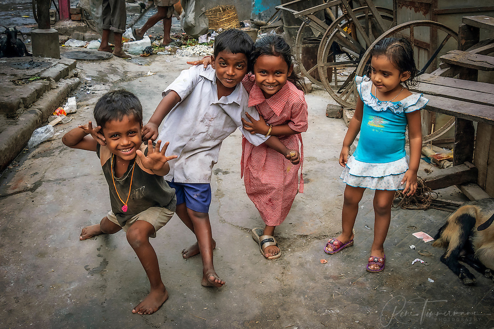 Children playing in the streets of Kolkata