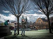 En selfie i Kungsträdgården i Stockholm.