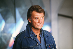 File photo : File photo of French singer and actor Johnny Hallyday (born Jean-Philippe Smet; 15 June 1943), pictured in April 1987. France's biggest rock star Johnny Hallyday has died from lung cancer, his wife says. He was 74. The singer - real name Jean-Philippe Smet - sold about 100 million records and starred in a number of films. Photo by Jean-Claude Roca-MF/ABACAPRESS.COM