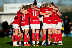 Bristol City Women huddle prior to kick off - Mandatory by-line: Ryan Hiscott/JMP - 19/01/2020 - FOOTBALL - Stoke Gifford Stadium - Bristol, England - Bristol City Women v Liverpool Women - Barclays FA Women's Super League