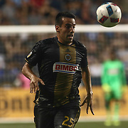 Philadelphia Union Midfielder ILSON PEREIRA DIAS (25) dribbles down the field in the second half of a Major League Soccer match between the Philadelphia Union and New York Red Bulls Sunday, July. 17, 2016 at Talen Energy Stadium in Chester, PA.