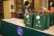 Ohio University campus communicators gathered Wednesday, May 13, 2015 in Walter Hall Rotunda for the first ever CCN Expo.  Photo by Ohio University  /  Rob Hardin