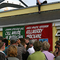 Owner of the Quilty Tavern Paddy Cooney had the best seat in the huse as he watched the open air set dancing as part of the Leon XIII festival in Quilty over the weekend<br />