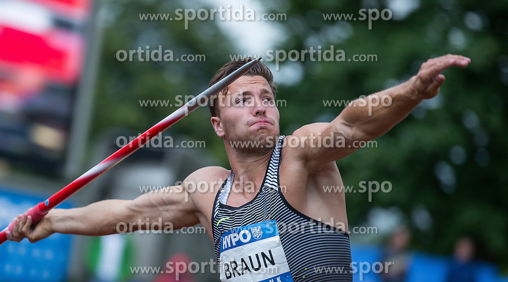 29.05.2016, Moeslestadion, Goetzis, AUT, 42. Hypo Meeting Goetzis 2016, Zehnkampf der Herren, Speerwurf, im Bild Kevin Mayer (FRA) // Kevin Mayer of France in action during the javelin throw event of the Decathlon competition at the 42th Hypo Meeting at the Moeslestadion in Goetzis, Austria on 2016/05/29. EXPA Pictures © 2016, PhotoCredit: EXPA/ Peter Rinderer