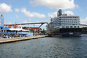 Curacao, Netherlands Antilles, Willemstad Cruise ship in the harbour