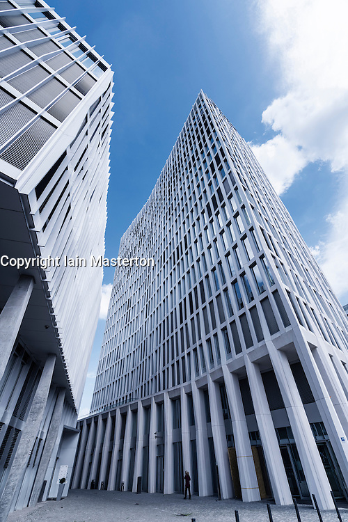 View of new office tower for Total company tower in new Europacity property development in Berlin Germany