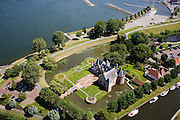 Nederland, Noord-Holland, Medemblik, 14-07-2008; Kasteel Radboud; burcht, West-Friesland. .luchtfoto (toeslag); aerial photo (additional fee required); .foto Siebe Swart / photo Siebe Swart).