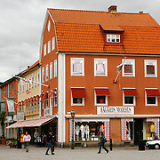 Shops in the center of Kalmar.<br /> Photography by Jose More