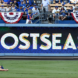 Los Angeles Dodgers starting pitcher Clayton Kershaw stretches in the outfield prior to a National League Championship Series baseball game against the Chicago Cubs at Dodger Stadium on Saturday, Oct. 14, 2017 in Los Angeles. (Photo by Keith Birmingham, Pasadena Star-News/SCNG)