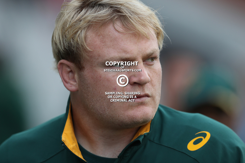 DURBAN, SOUTH AFRICA, 8 October, 2016 - Adriaan Strauss (captain) of South Africa during the Rugby Championship match between South Africa and New Zealand at Kings Park in Durban, South Africa. (Photo by Steve Haag)