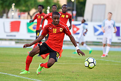 AUBAGNE, FRANCE - Monday, May 29, 2017: Angola's Jaredi Lopes Teixeira during the Toulon Tournament Group A match between England U18 and Angola U20 at the Stade de Lattre-de-Tassigny. (Pic by David Rawcliffe/Propaganda)