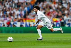 Marcelo of Real Madrid in action - Mandatory byline: Rogan Thomson/JMP - 04/05/2016 - FOOTBALL - Santiago Bernabeu Stadium - Madrid, Spain - Real Madrid v Manchester City - UEFA Champions League Semi Finals: Second Leg.