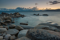 """Tahoe Boulders at Sunset 5"" - These boulders were photographed at sunset near Hidden Beach, Lake Tahoe."
