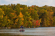 Early fall fishing on Blue Lake near Minocqua, Wisconsin.  Photo by Mike Roemer