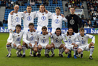 Fotball, 28. april 2004, Privatlandskamp, Norge-Russland 3-2,  Team Russland, team-picture: Igor Akinfeev (1), Vadim Evseev (2), Dmitri Sennikov (3), Alexei Smertin (4), Sergei Ignashevitch (5), Marat Izmailov (6), Victor Onopkov (7), Rolan Gusev (8), Dmitri Boulykin (9), Dmitri Loskov (10), Dmitri Sychev (11)
