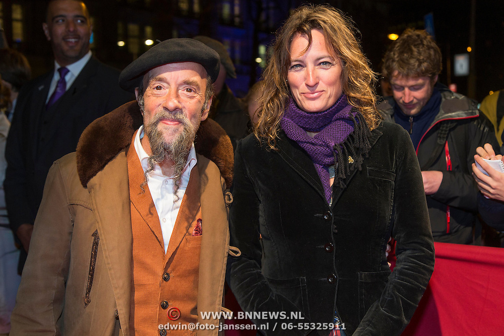 NLD/Amsterdam/20140307 - Boekenbal 2014, Ilja Gort en partner