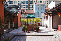 The interior courtyard at Thian Hock Keng Temple in Singapore.