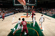 January 27, 2019: Raiquan Gray #1 of Florida State in action during the NCAA basketball game between the Miami Hurricanes and the Florida State Seminoles in Coral Gables, Florida. The Seminoles defeated the 'Canes 78-66.