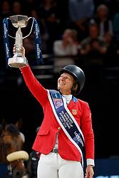MADDEN Elizabeth (USA)<br /> Paris - FEI World Cup Finals 2018<br /> Longines FEI World Cup Jumping Final IV<br /> www.sportfotos-lafrentz.de/Stefan Lafrentz<br /> 15. April 2018